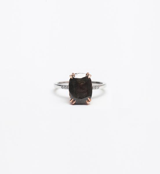 Anna Sheffield One-of-a-Kind Grey Diamond Hazeline Solitaire