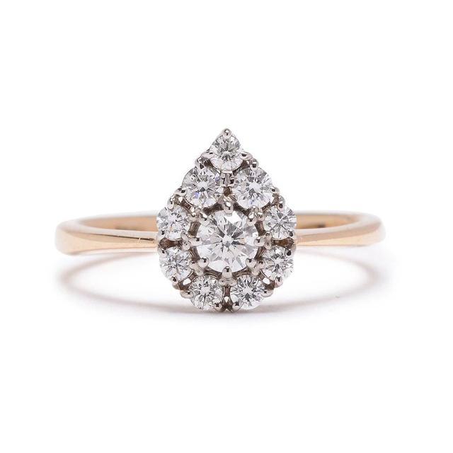 Lori McLean Petite Paisley Diamond Cluster Ring