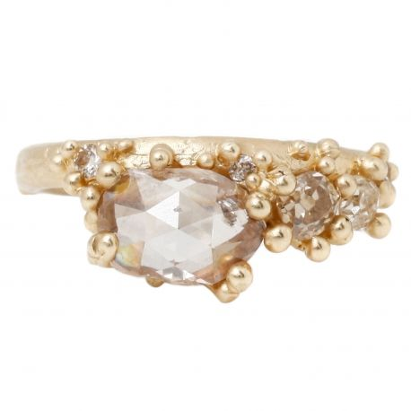 Ruth Tomlinson Champagne Diamond Cluster Ring