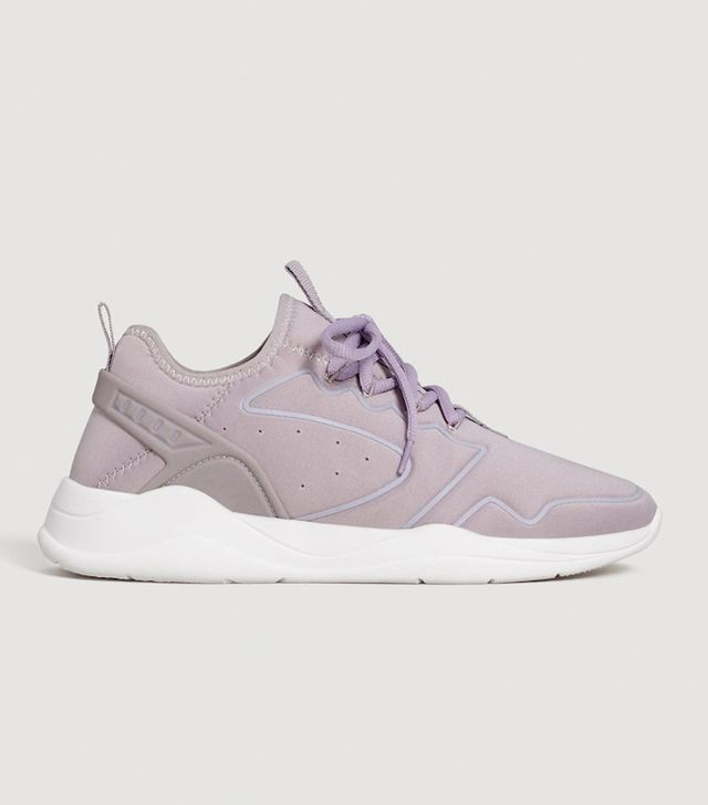 Appliqué lightweight sole sneakers