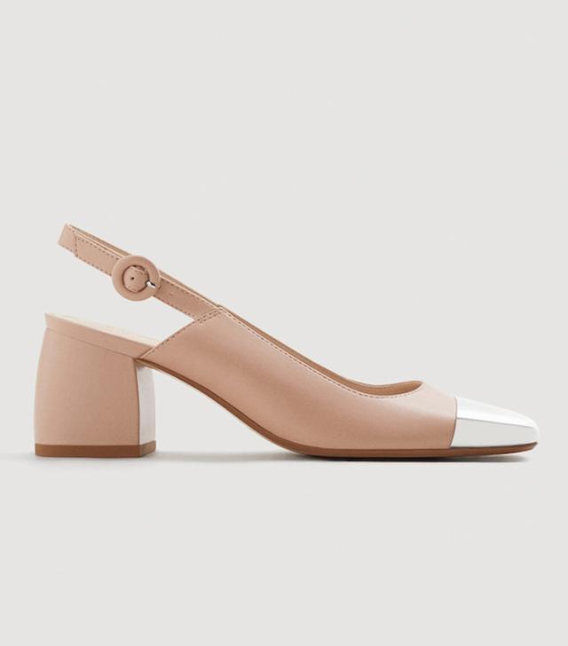Mango Metallic Pointed-Toe Shoes