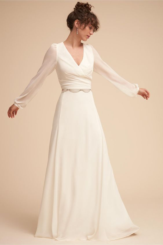 b440c6f9b0 20 Simple Fall Wedding Dresses for the Bride
