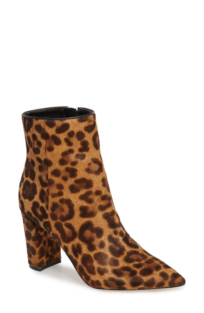 The Leopard Print Ankle Boot Trend Is Happening Who What
