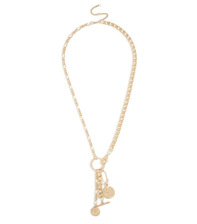 Topshop Multi Charm Lariat Necklace