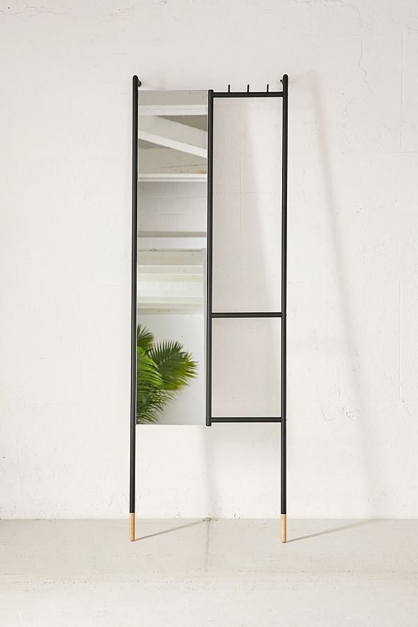 Leni Leaning Mirror - Black One Size at Urban Outfitters