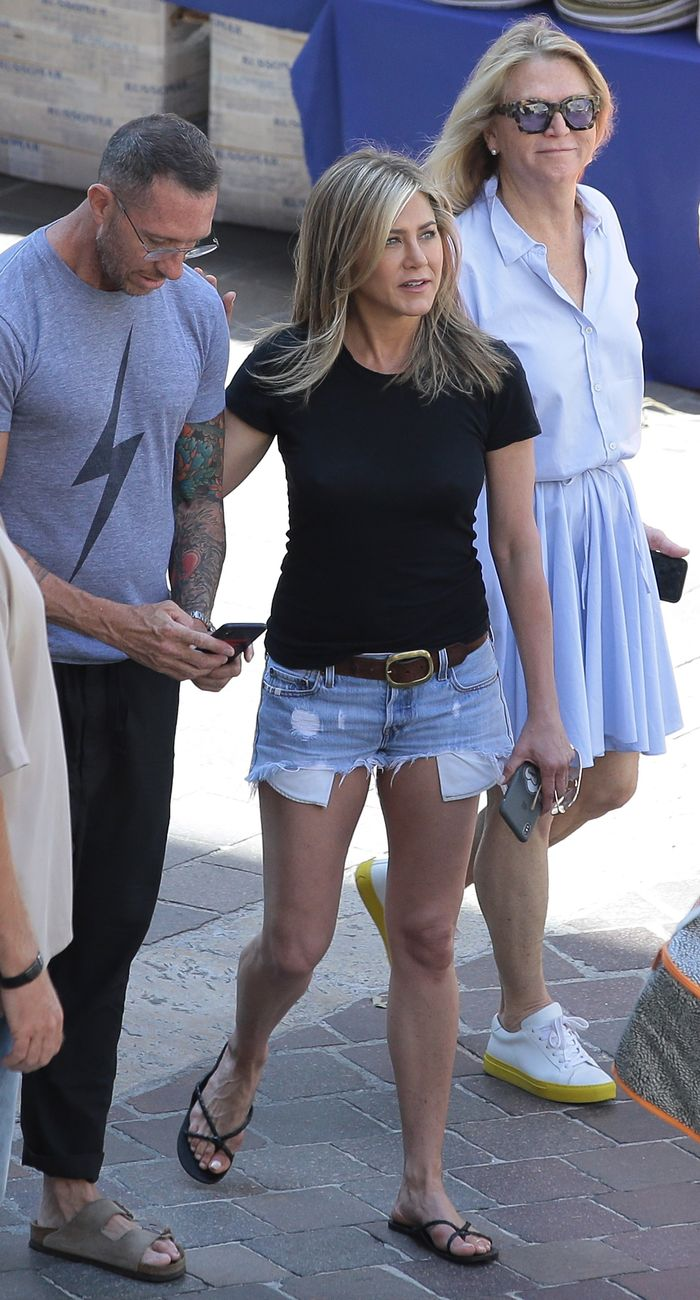 Would jennifer aniston shorts speaking, did