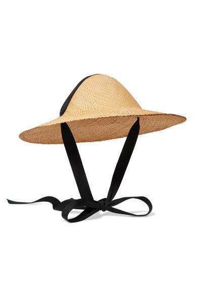 Adriatic Cotton-trimmed Straw Hat