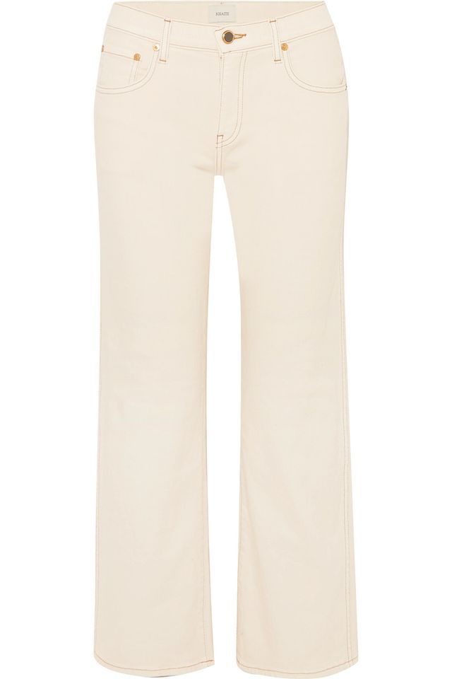 Wendell Cropped High-rise Wide-leg Jeans