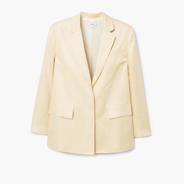 what to wear to a september wedding: mango linen blazer