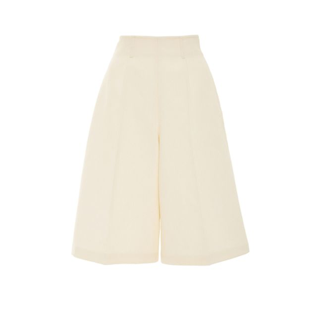 what to wear to a september wedding: Delpozo cotton bermuda shorts