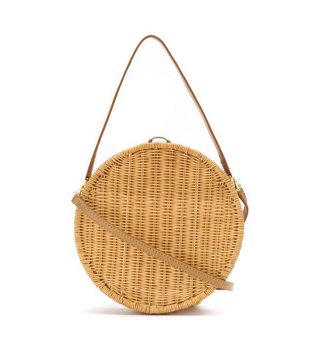 what to wear to a september wedding: Suptui straw clutch
