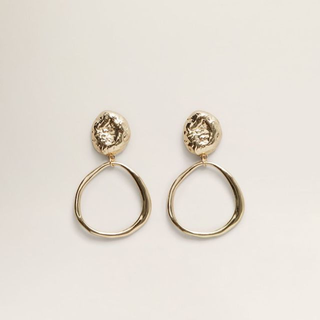what to wear to a september wedding: Mango earrings