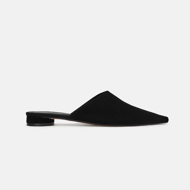 what to wear to a september wedding: Zara leather mules