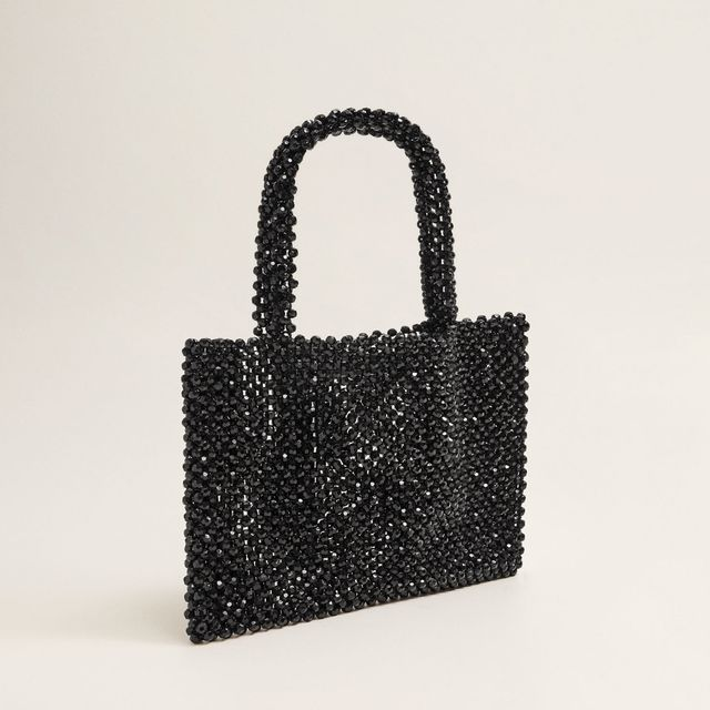 what to wear to a september wedding: Mango beaded bag