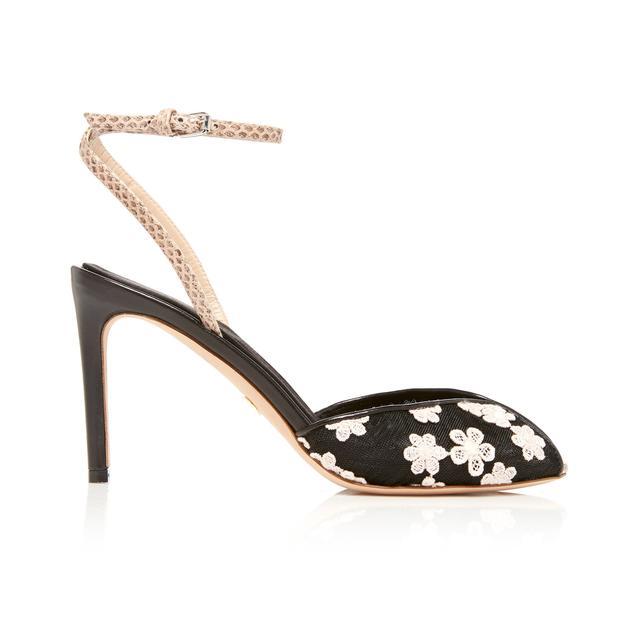 what to wear to a september wedding: Giambattista Valli floral sandal