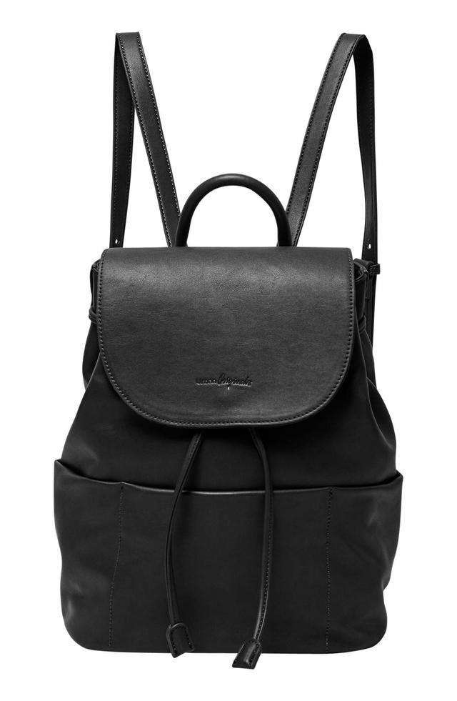 Splendour Vegan Leather Backpack - Red