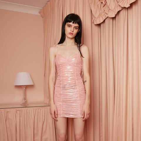 Crushed Pearl Slip Dress