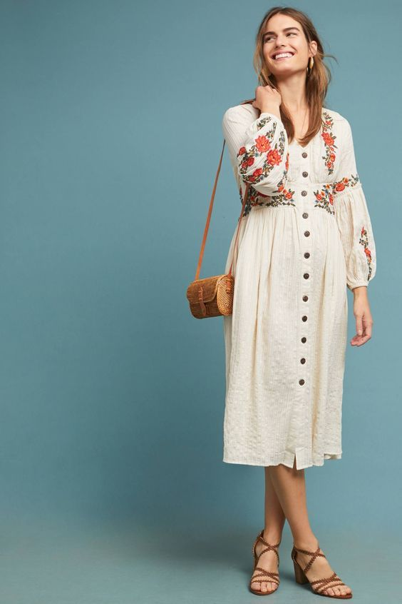 15 Pretty Boho Dresses Perfect For Fall Who What Wear