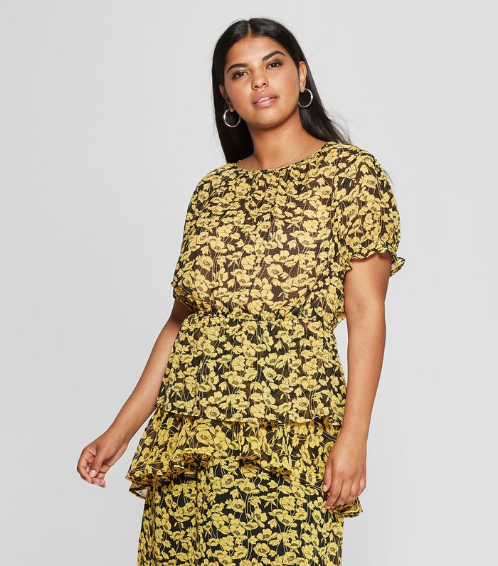 f092168b5e Pinterest · Shop · Who What Wear Floral Print Short Sleeve Puff Shoulder  Smocked ...