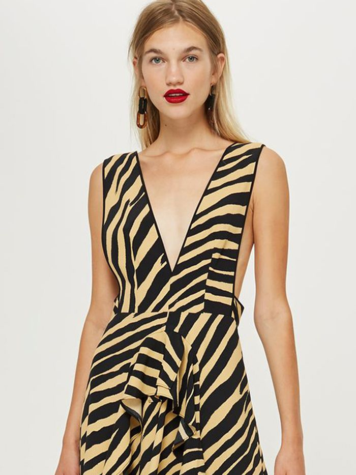 a3a6a61f795f Drop Everything: Topshop's Polka-Dot Dress is Now Available in Animal Print