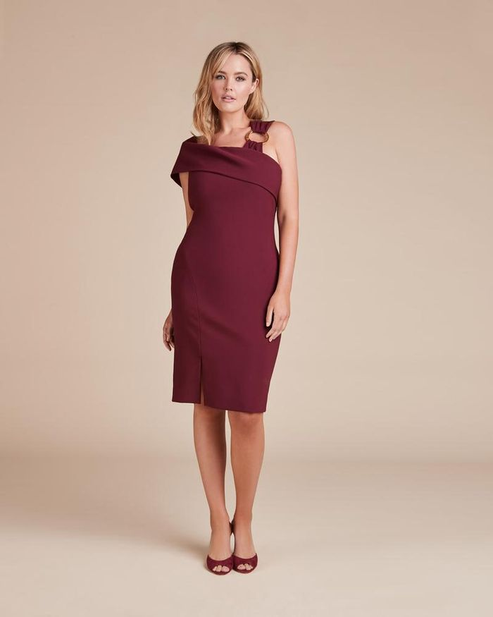 fab6f85f3e80 33 Burgundy Bridesmaid Dresses Perfect for a Fall Wedding | Who What ...