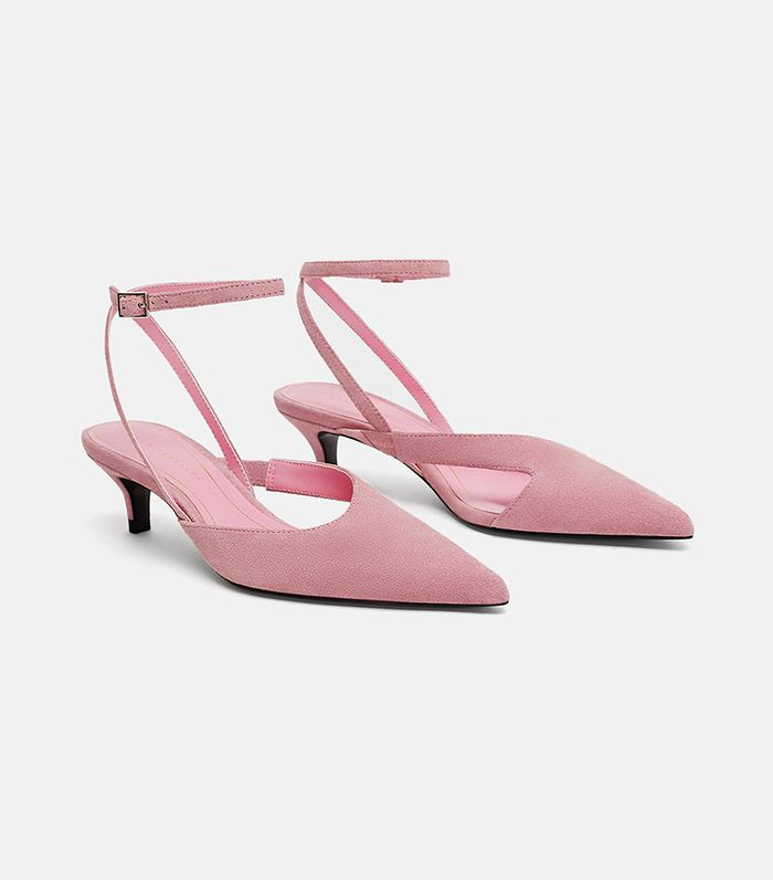 511fe5a7978 Pinterest · Shop · Zara Mid-Height Leather High Heels Shoes ( 70). Meet  your new ...