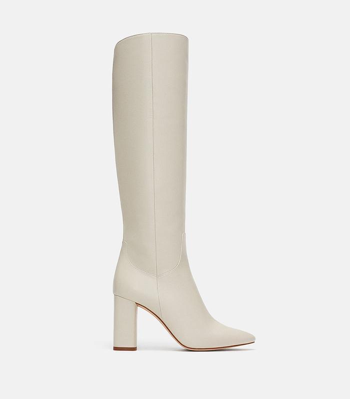 6caa13202b19 Pinterest · Shop · Zara High Heeled Leather Boots ...