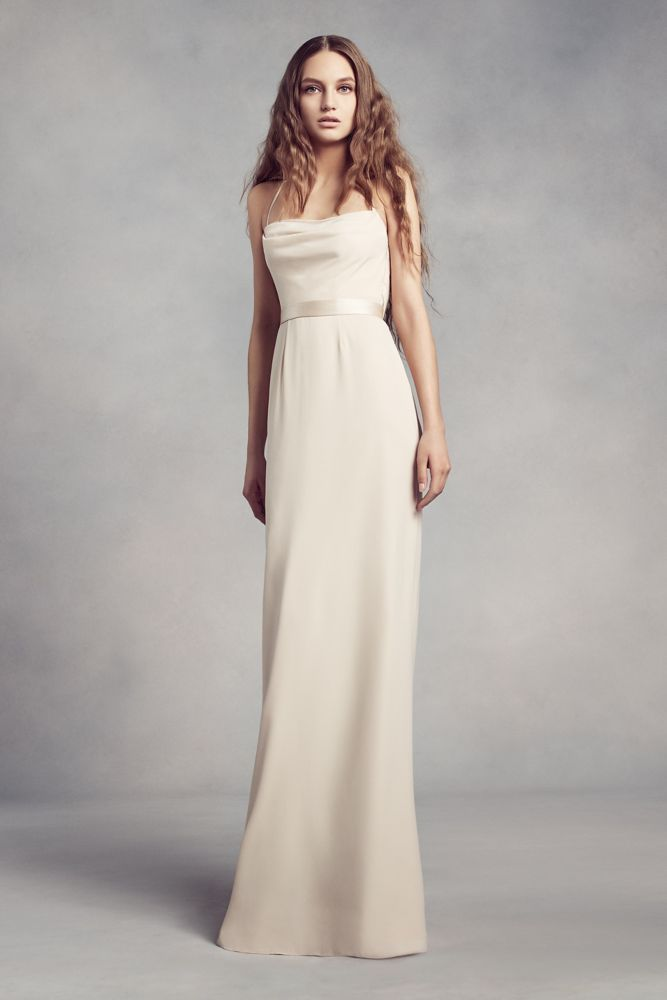 1c9dabbf40 Pinterest · Shop · White by Vera Wang Cowl-Back Crepe Bridesmaid Dress ...