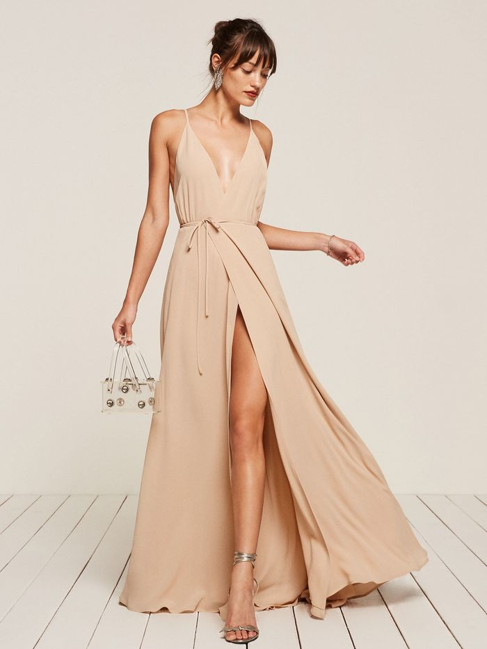 f4db3476de 31 Champagne-Colored Bridesmaid Dresses on the Market | Who What Wear
