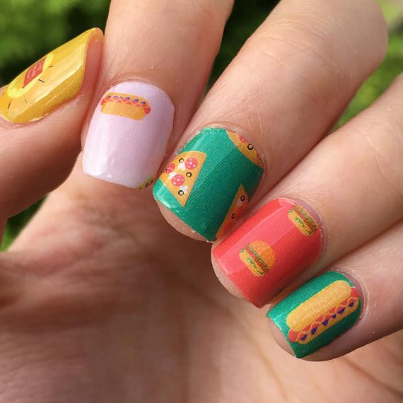 its Personail Fries Before Guys Fast Food Nail Polish Wraps
