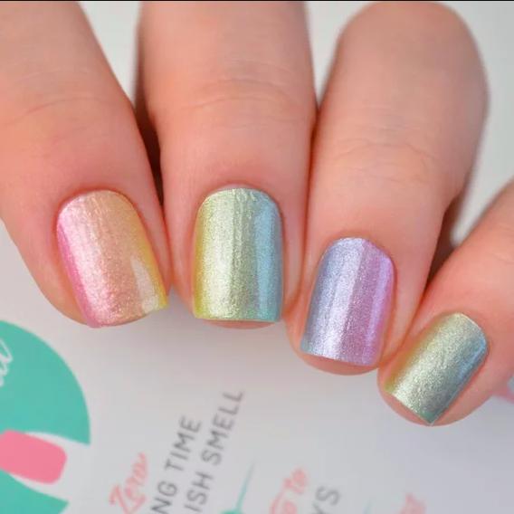 its Personail Paddle Pop Rainbow Nail Polish Wraps