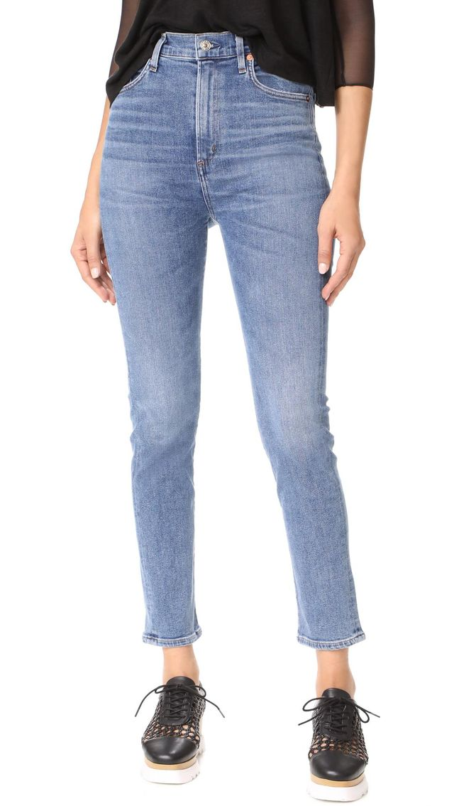 Ruby Super High Straight Crop Jeans