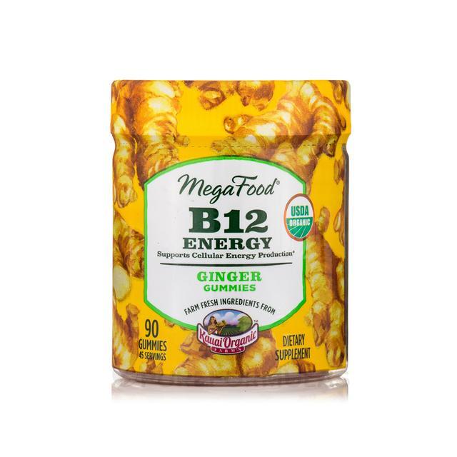 MegaFood B12 Energy Gummies Ginger