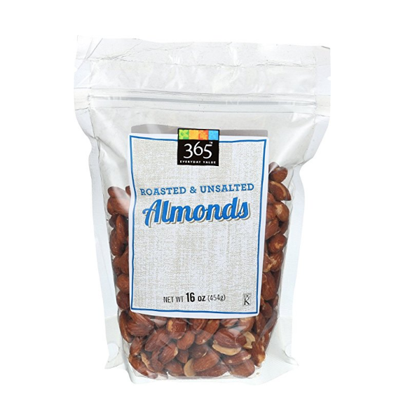 365 Everyday Value Roasted and Unsalted Almonds