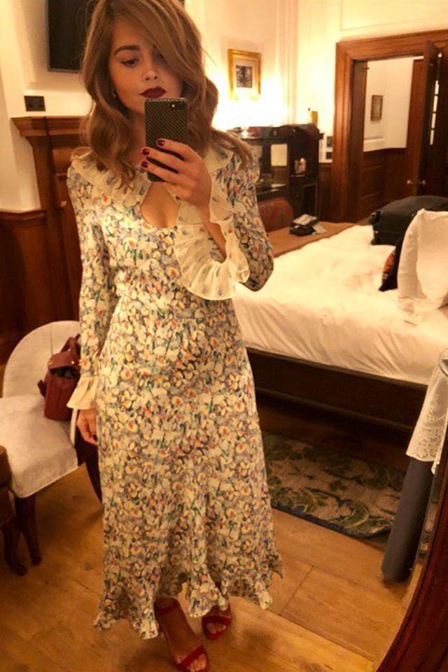 Stylish celebrities: Jenna Coleman wears Vilshenko dress