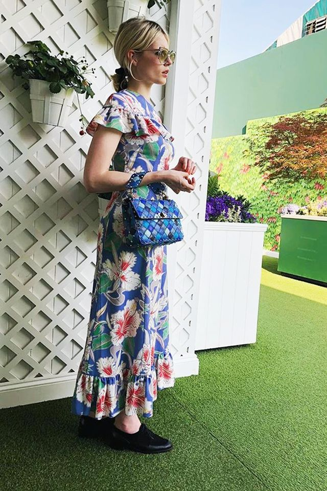 Stylish celebrities: Lucy Boynton wears a Valentino dress