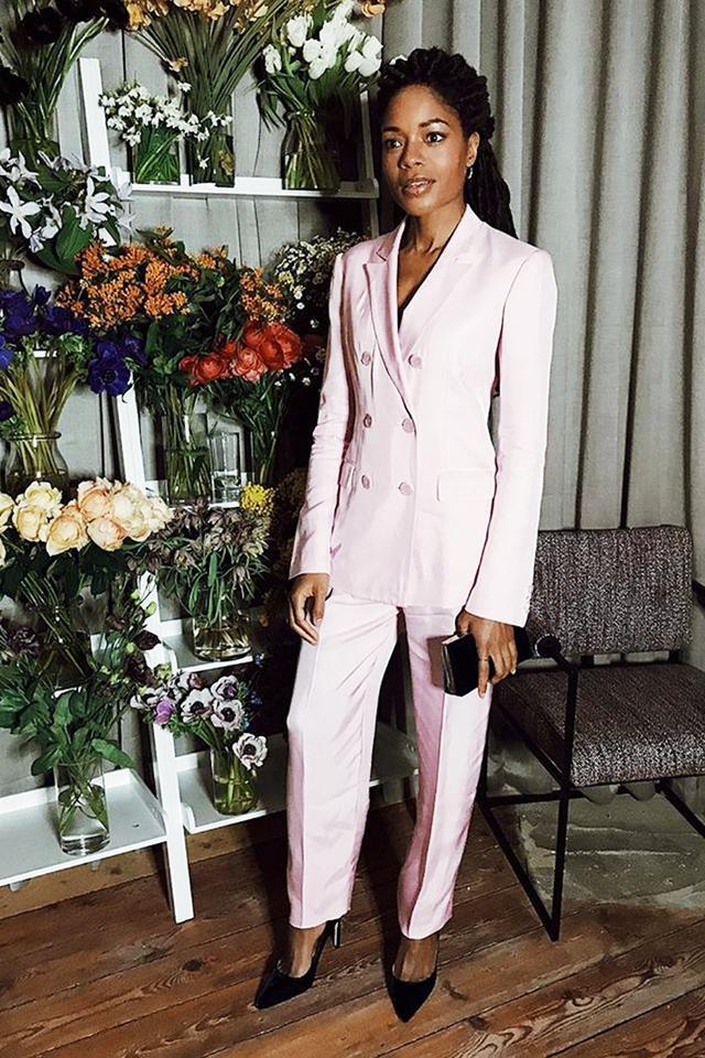 Stylish celebrities: Naomie Harris wears a Tibi suit
