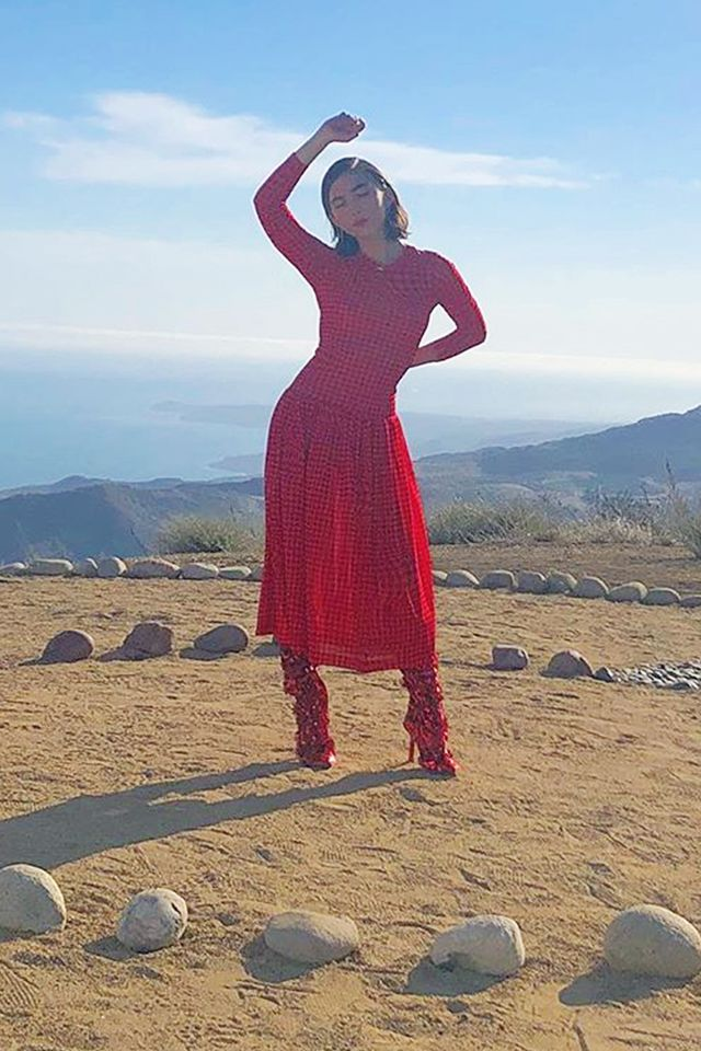 Stylish celebrities: Rowan Blanchard wears a Molly Goddard dress