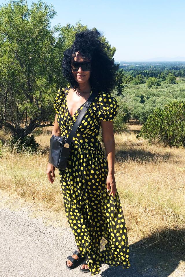 Stylish celebrities: Tracey Ellis Ross wears an Attico polka dot dress