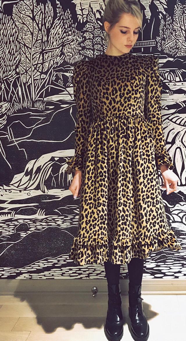 Stylish celebrities: Lucy Boynton wears Batsheva dress