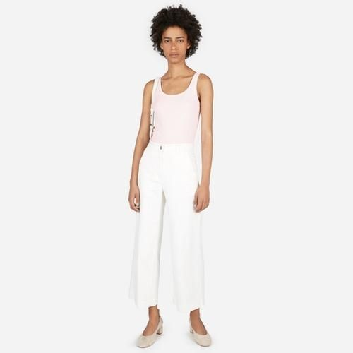 Women's Pima Micro Rib Tank by Everlane in Pale Pink, Size XS