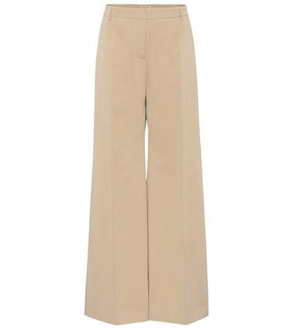 Highbridge Wide-Leg Cotton Trousers
