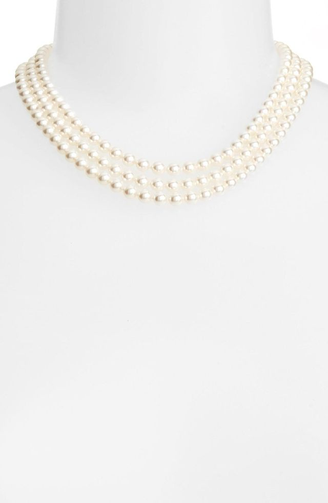 Multistrand Imitation Pearl Necklace