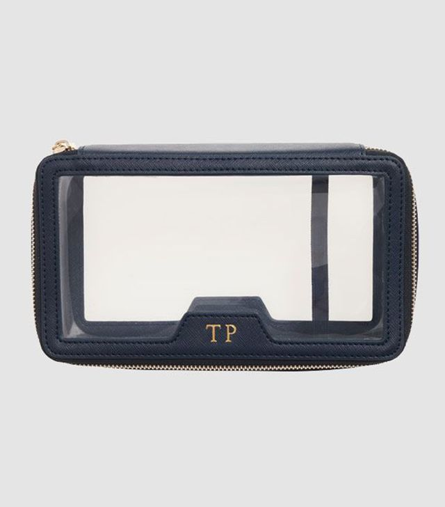 The Daily Edited Ink Navy Transparent Cosmetic Case