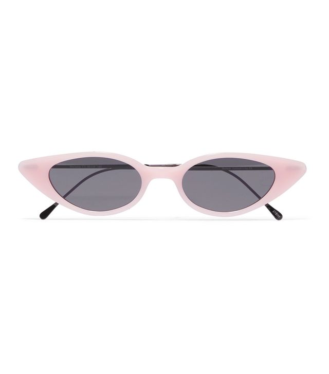 Illesteva Marianne Cat-Eye Acetate and Gunmetal-Tone Sunglasses