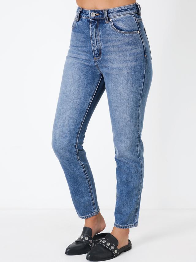 Abrand '94 High Rise Slim Leg Jeans in Wallflower Denim