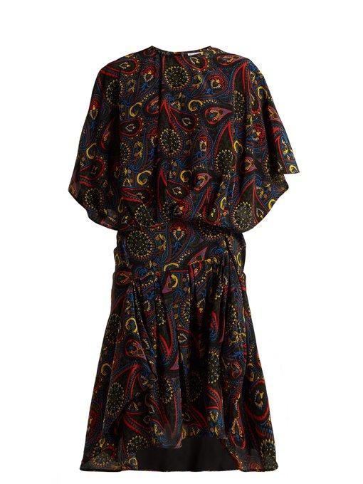 J.W.Anderson Paisley Print Handkerchief-Hem Silk Dress