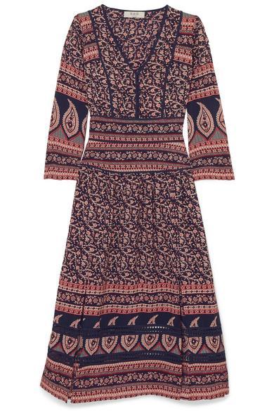 Aurora Printed Cotton Midi Dress