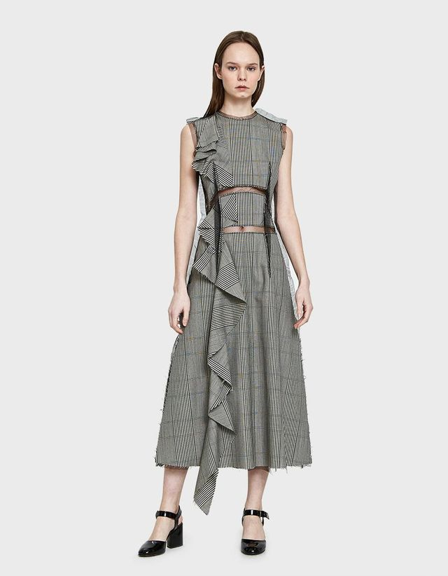 Over Check Wool Dress