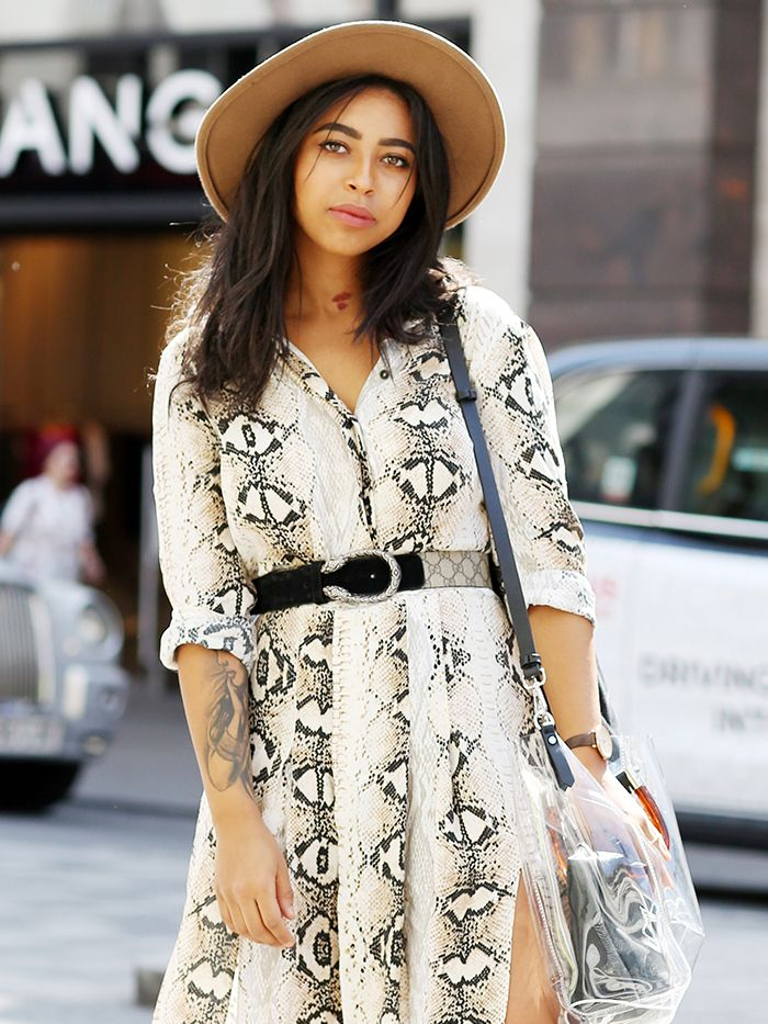 0ea0816f58c6 Everyone in London is Wearing Topshop's Snake-Print Dress | Who What ...